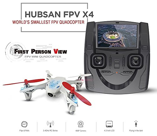 Ilov Hubsan H107D X4 5.8G RC Helicopter 4CH 6 Axis 2.4G RC Quadcopter With 0.3 Camera RTF and Live LCD Transmitter