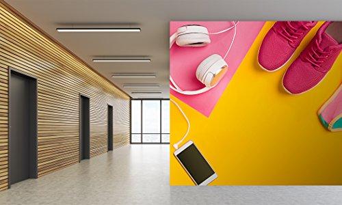 Oedim Fotomural Vinilo Pared Deportivo Barato Movil Auriculares Zapatillas Bañador | Fotomurales Pared | Fotomural Decorativo | Mural | Vinilo Decorativo | 400 x 300 cm | Decoración Gimnasios |