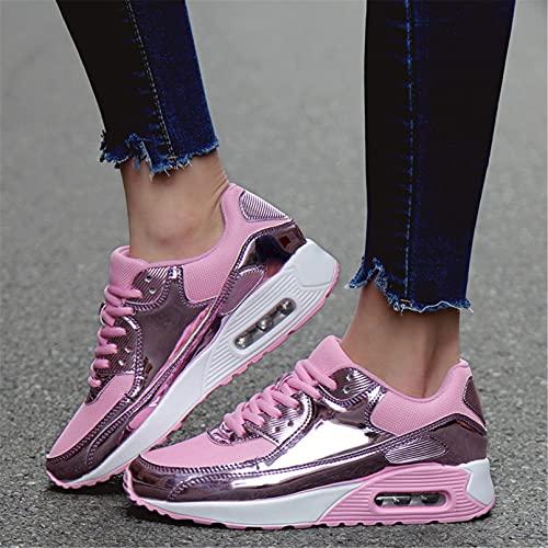 huleiy Zapatillas De Correr para Mujer Unisex Moda para Mujer para Zapatillas De Deporte Zapatillas De Deporte Transpirables para Mujer Cojín Deportivo Pink 38