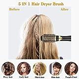 Esolom Haartrockner Warmluftbürste 5 In 1 Multifunktions Föhnbürste Hair Styler & Volumizer Negative Ion Haarglätter Bürste Abnehmbarer Bürstenwechselkopf für Alle Haartypen - 2