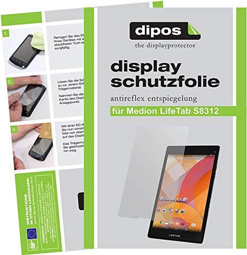 dipos I 3X Schutzfolie matt kompatibel mit Medion Lifetab S8312 (MD 98989) Folie Bildschirmschutzfolie