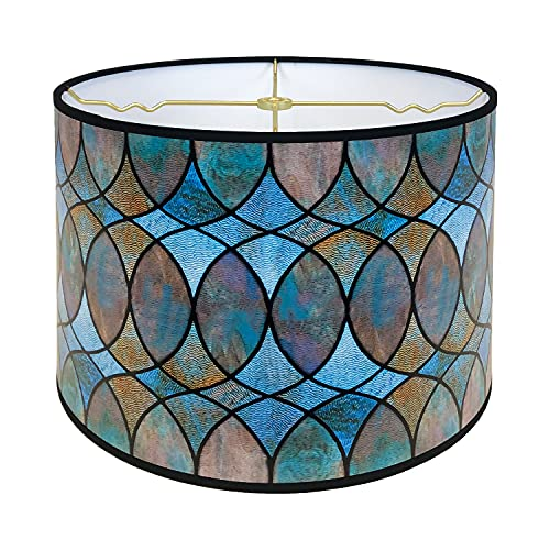 Royal Designs Modern Trendy Decorative Handmade Lamp Shade - Made in USA - Cool Hues Water Color Design - 10 x 10 x 8