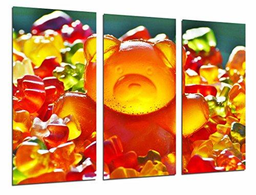 Fotodruk fototent eetbaar Gominolas beer lief oranje totale grootte 97 x 62 cm XXL