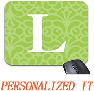 Goodesigns Ornate Floral Monogram - Letter L Mouse Pad Trendy Office Desk Accessory 9 x 7.5