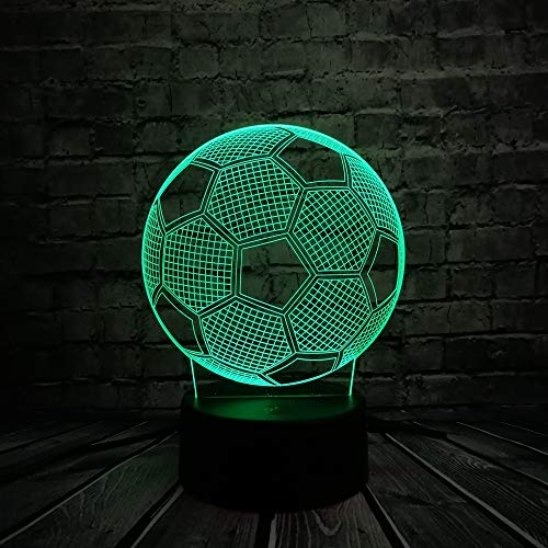 Preisvergleich Produktbild orangeww 3d Visuelle Illusion Lampe / 7 Farbwechsel Nachtlichter / wohnkultur Schlafzimmer Acryl Led Kunst / weihnachtsgeschenk / Fußball