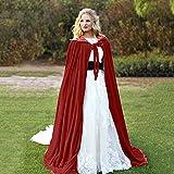 zhongbao Capa gótica con capucha para adultos de carnaval de Halloween (color: rojo, tamaño: XL)