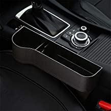 Car Seat Gap Organizer, Multifunctional with Cup Holder, Storage Box, Fit for Most Cars (Black, Driver Seat)