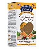 Stewart Raw Naturals Freeze Dried Patties Grain Free Made in USA with Chicken, Fruits, & Vegetables for Fresh To Home All Natural Recipe, Large