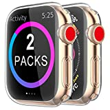 BRG Case for Apple Watch Series 3 2 Screen Protector 38mm, [2 Pack] Soft TPU HD Clear Ultra-Thin Overall Protective Cover Case for iWatch Series 3/2 38mm