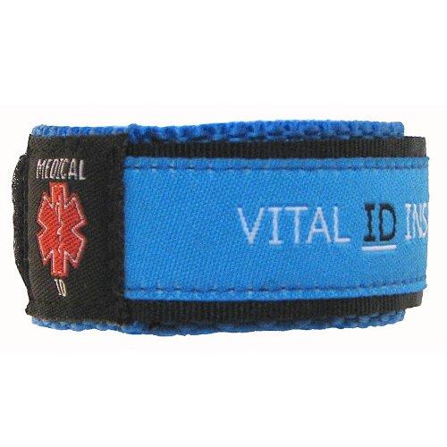Vital ID Medical Wristband, Gomma, Blue, 17,8 cm