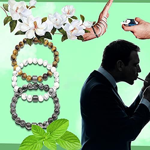Pulsera para Dejar de Fumar de 3 Piezas, Compañero Personalizado para Dejar de Fumar, Herramientas para Dejar de Fumar, Chakra de la Raíz Que Absorbe la Energía Negativa