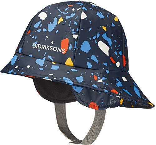 Didriksons Southwest Printed Chapeau Enfant Marine terazzo 2020 Chapeau, Bleu marine Terazzo, 54