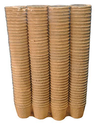 Selections - Vasi per Piante, Rotondi, compostabili, biodegradabili, 5 cm (Confezione da 144)