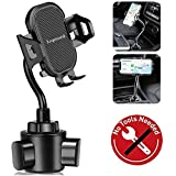 Car Cup Holder Phone Mount, Universal Adjustable Portable Car Cradle Cup Holder Mount for iPhone 7 8 11 X XR XS Max, Samsung