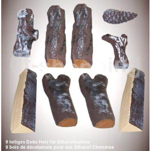 11 pièces / logs en bois massif / Pour les foyers de gel et de foyers à l'éthanol