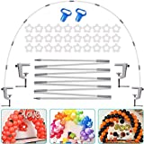 AXHJ 13Ft Adjustable Balloon Arch Stand Kit, New Reusable Table balloon arch kit with base High Strength Glass Fiber Pole for DIY Party Wedding Birthday Baby Shower Xmas Festival Decorations Merry Christmas