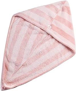 Zhengpingpai Dry Hair Cap,Coral Fleece, Shower Hair Drying Head Wrap,Lady Girls Bath Hair Towels for Grownup Bathroom (Col...