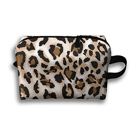Leopard Prints Reistas Grote Toiletten Tas Cosmetische Tas Potlood Case Tote Multifunctionele Organizer Opbergtas