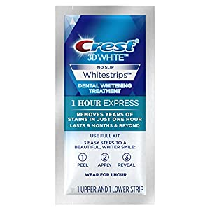 Crest 3D Whitestrips 1 Hour Express Teeth Whitening Kit, 7 Treatments