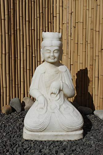 Asien Lifestyle Wächter Statue aus Marmor Stein China Skulptur Buddha Figur
