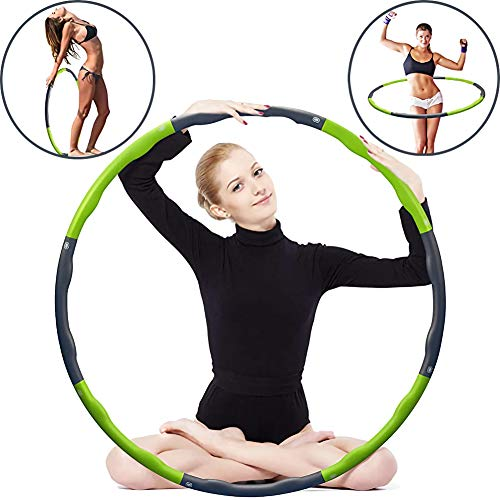 Esercizio Fitness Ponderata Hula Hoop, Perdere Peso Velocemente da Fun Way To Workout, Fat Burning Sano Modello di Vita Sportiva, Staccabile Ed Il Formato Design Regolabile