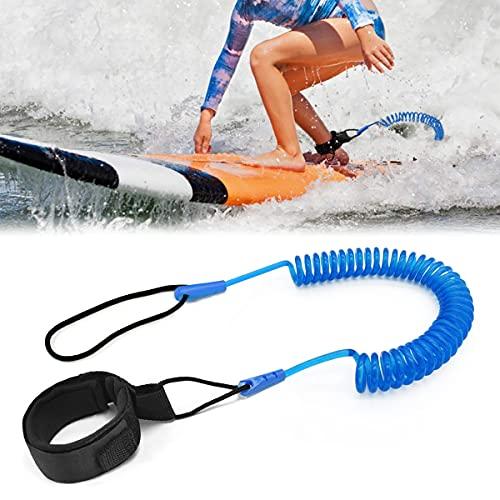 Tusenpy 10 ft Surf Leash,Einziehbares Surfboard Leash,Sicherheitsleine Surfbrett Fußseil für Stand Up Paddle Board (Blau)