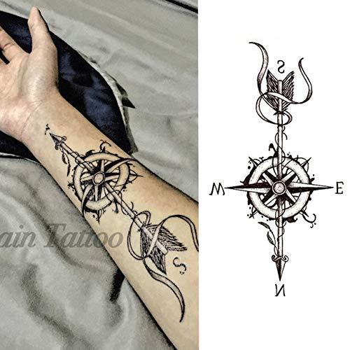 tzxdbh 3Pcs-Tattoo Sticker Black Rose diseño Flor Llena Brazo Arte ...