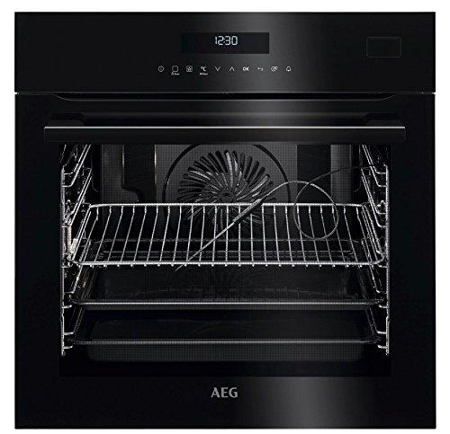 AEG - Horno multifunción a vapor BSE 772220 B de cristal negro de 60 cm