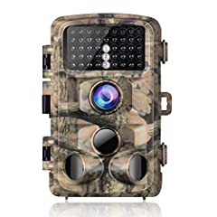 ◀ Excellent Sensitivity and Night Vision with 3 PIR ▶ The trail camera will detect movements of wild animals as soon as they enter the detecting range.With 3 passive infrared sensors,the high-sensitive camera detect and record every breathtaking moti...