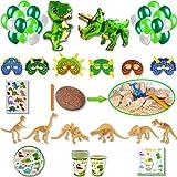 DREANA - Kit de fiesta de cumpleaños para niño, diseño de dinosaurio de 6 pers:...