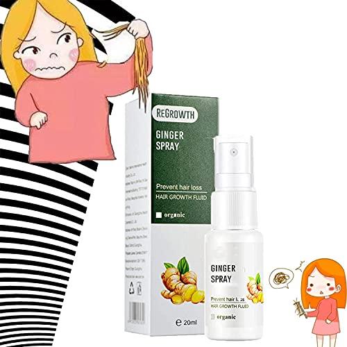 DR.VICKY Spray Gingembre Croissance Rapide des Cheveux,Croissance Dense Rapide des Cheveux SéRum Gingembre Huile Anti-Chute (1pc)