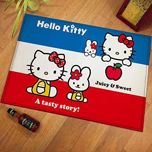 QNNN Hello Kitty Alfombra de Piso de Felpa Alfombra Alfombra de habitación...