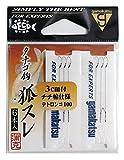 がまかつ(Gamakatsu) テトロン糸付 タナゴ鈎 狐スレ 100. 11958-0-100-07