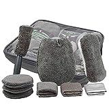 Set Limpieza Coche,9 Piezas Microfibra absorbente ultra suave lavado herramientas,Con toalla guante de lavado y esponja de limpieza de coches