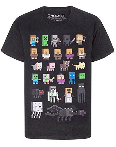 Minecraft Jungen Minecraft kurzärmligen T-Shirt Schwarz T-Shirt (11-12 years)