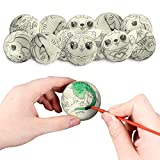 LovesTown 12 Pcs DIY Squeeze Ball, 2.5inches Stress Balls for Kids Bulk Stress Relief Toys for Hand Wrist Finger Exercise Stress Relief Therapy Squeeze