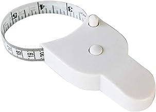 Grey990 Ferramenta de fita métrica corporal – Régua de quadril retrátil automática precisa branca portátil