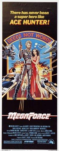 Megaforce Poster Insert 14x36 Barry Bostwick Persis Khambatta Edward Mulhare