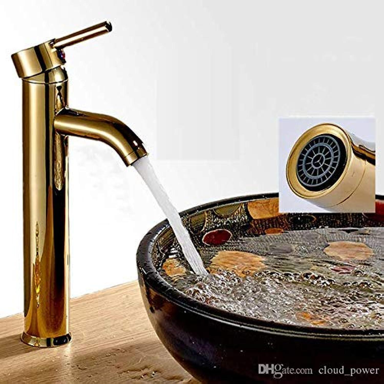 Oudan Antique Basin Faucet Single Hole Mixer Taps Single Lever Handle High Swivel Curve Spout Kitchen Sink Faucet (color   -, Size   -)