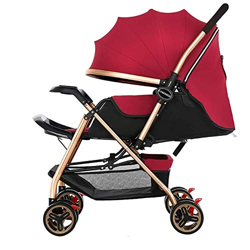 New MOOLO Baby Stroller Baby Trolley,Down Foldable Simple Handle Reversible Suspension Neonatal Bugg...