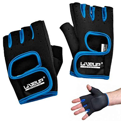 Liveup Sports Luva de Treinamento , P/M, Azul/Preto