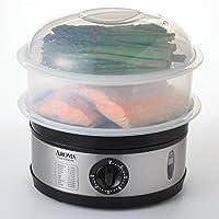 Aroma Housewares 5-Quart Food Steamer, Stainless Steel