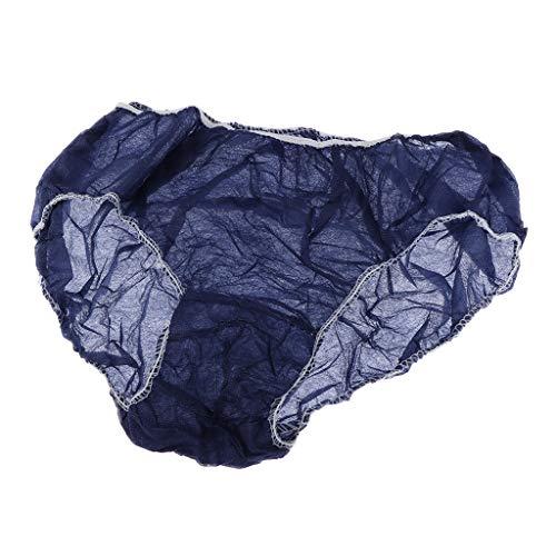 50pcs Unisex Einweg Unterwäsche Unterhose Einmal Slip für Reisen Hotel Spa - Blau
