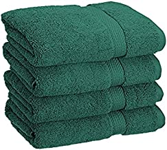 Superior Bathroom Accessories Soft Bath Collection Towel Set, 4PC Hand, Teal, 4 Count
