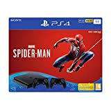 Foto console SONY PS4 Black 1TB + Spiderman + 2 Dualshock 4