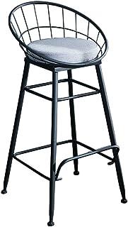 Taburetes Altos de Bar Sillas de Comedor Silla moderna de taburetes con reposapiés de respaldo Silla alta de taburete de tela Sillas de comedor para cocina | Pub | Taburete de bar industrial Piernas d