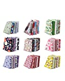 100PCS BcPowr 4' x 4' (10cmx10cm) Craft Fabric, Craft Patchwork Bundle Top Cotton Fabric Squares Lint DIY Sewing Scrapbooking Quilting Dot Pattern Artcraft