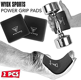 WYOX Power Grip Weight Lifting Pads Workout Foam Hand Gloves Gym Fitness Pair