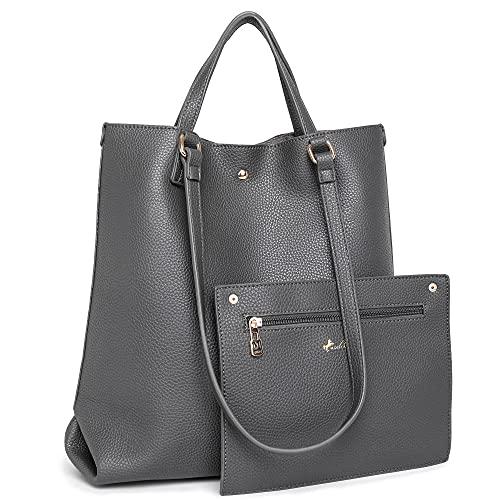 Montana West Soft Leather Tote Purse Top Handle Shoulder Bags Tablet Teacher Bag Bulk File Handbags B2B MWC-C021GY