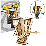 Borderlands Claptrap Poster & Wood Model Figure Kit - Build & Paint Your Own Game Toy Model - Puzzle Interlocking Pieces - Teens & Adults, 17+